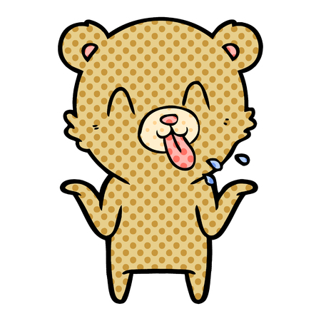 Rude cartoon bear