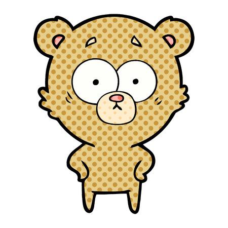 surprised bear cartoon Vector illustration. Illustration