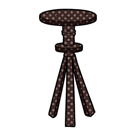 cartoon stool Vector illustration.