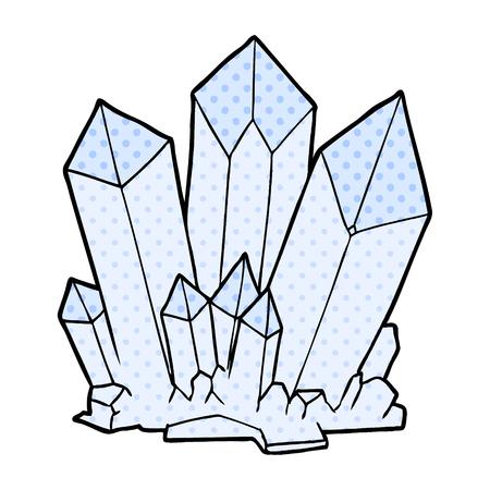 cartoon crystals Vector illustration.