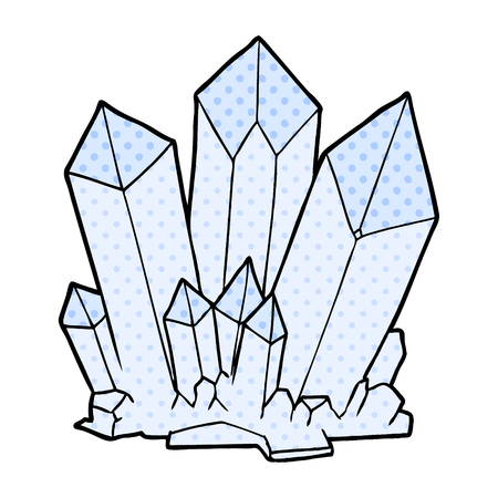 cartoon crystals Vector illustration.