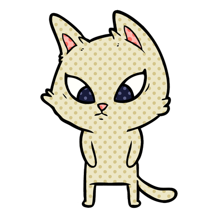 A confused cartoon cat Illustration