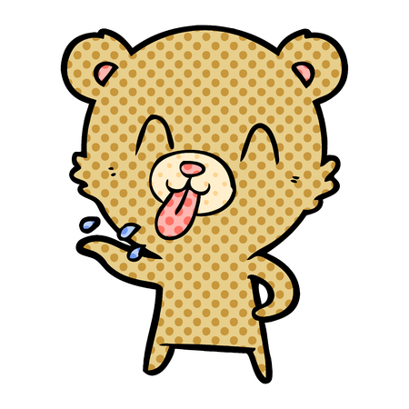 rude cartoon bear  Vector illustration. 스톡 콘텐츠 - 95656739