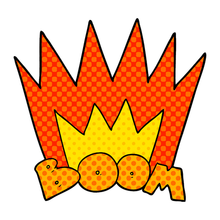 cartoon boom sign  Vector illustration. Фото со стока - 95657238