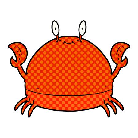 cartoon crab  Vector illustration. Иллюстрация