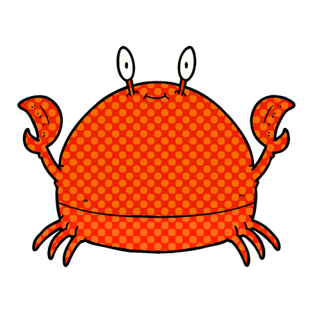 cartoon crab  Vector illustration. Illustration