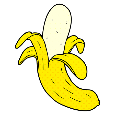 cartoon banana  Vector illustration.