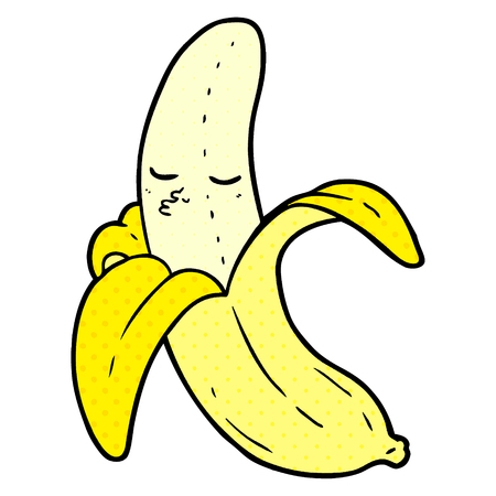 cartoon banana Vector illustration. Illustration