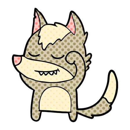 tired cartoon wolf Vector illustration. Illustration