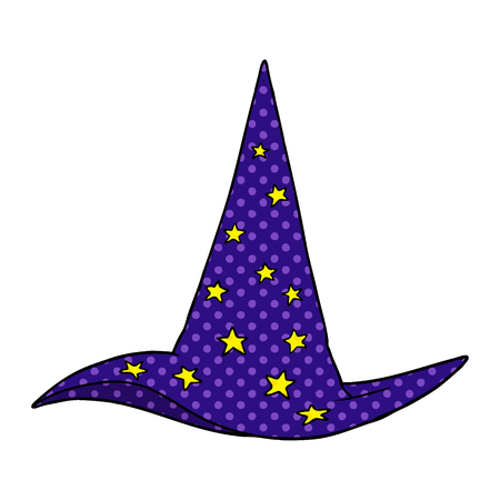 cartoon wizard hat Vector illustration.