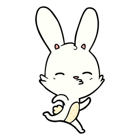running bunny cartoon Vector illustration. 일러스트