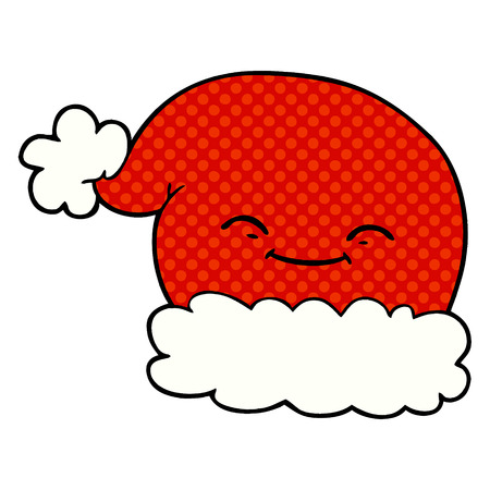 cartoon christmas santa hat Vector illustration. Stock Vector - 95663453