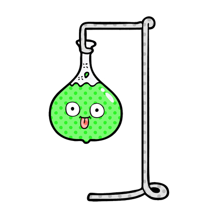 cartoon science experiment Vector illustration. Иллюстрация