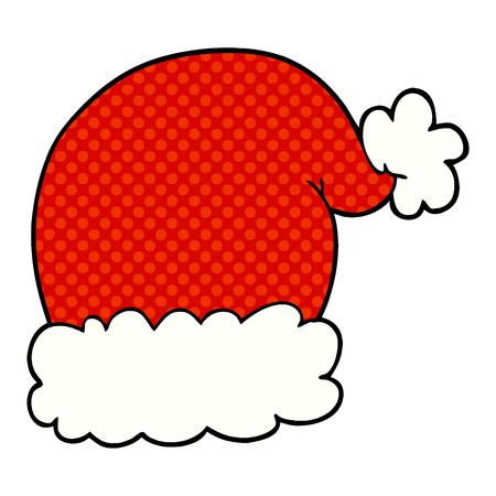 cartoon christmas hat Vector illustration. Stock Vector - 95668782