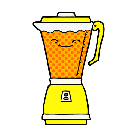 cartoon food processor Vector illustration. Çizim