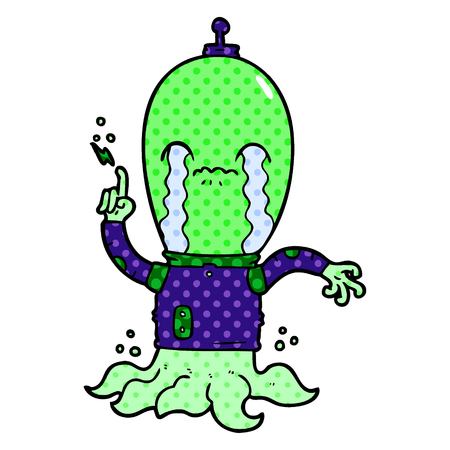 cartoon alien Vector illustration. Illustration
