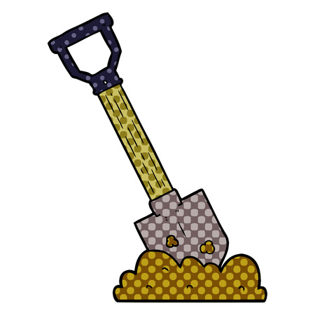cartoon shovel Vector illustration. Ilustrace