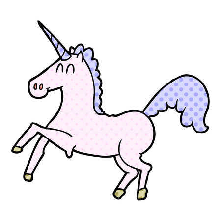 cartoon unicorn Vector illustration.
