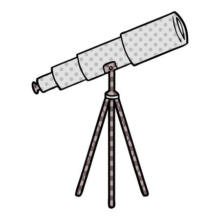 cartoon telescope Vector illustration.
