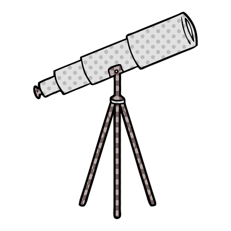 cartoon telescope Vector illustration.