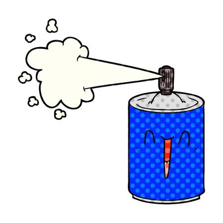 cartoon aerosol spray can Vector illustration. Ilustração