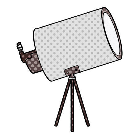 cartoon big telescope Vector illustration.