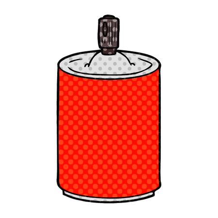 cartoon aerosol spray can Vector illustration. Reklamní fotografie - 95670146