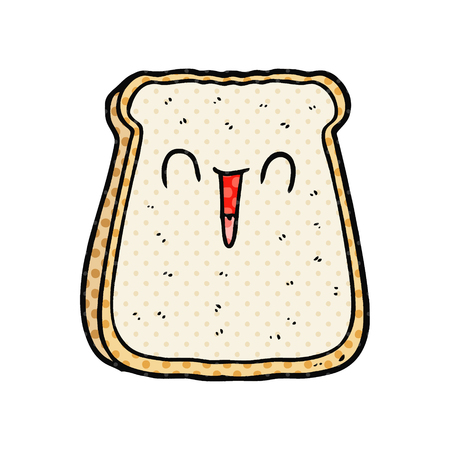 cartoon slice of bread Vector illustration.