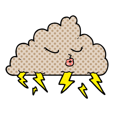 cartoon thundercloud Vector illustration. Illustration