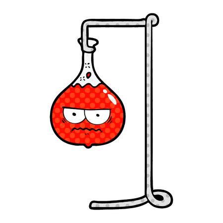 怒っている漫画科学実験ベクトル図。  イラスト・ベクター素材