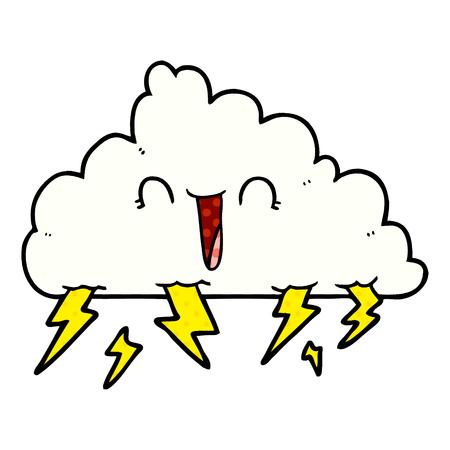 cartoon thundercloud Vector illustration. Stock Illustratie
