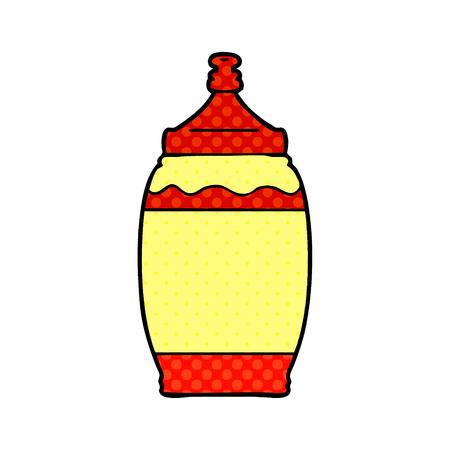 cartoon ketchup bottle Vector illustration.