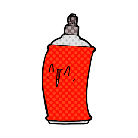 cartoon happy spray can Vector illustration.
