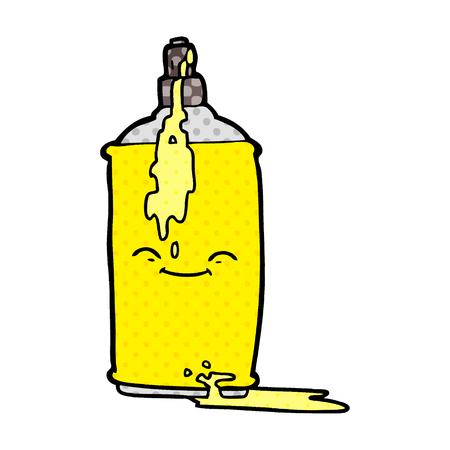 cartoon spray paint can Vector illustration. Reklamní fotografie - 95688642