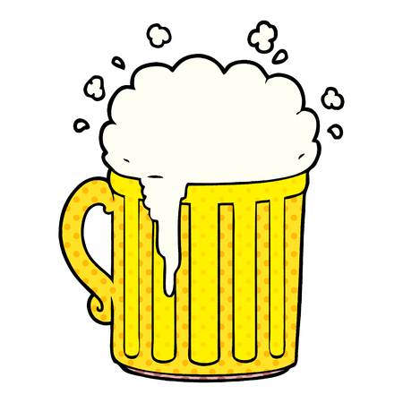 cartoon mug of beer Vector illustration. Illustration