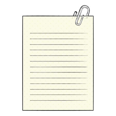 白い背景にクリップイラストが描かれている漫画の裏紙。