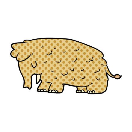 Cartoon Mammut Illustration auf weißem Hintergrund Standard-Bild - 95664108