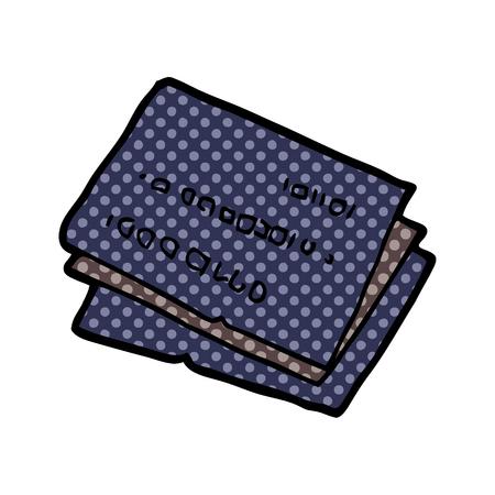 Old credit cards cartoon illustration on white background.