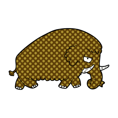 Cartoon Mammut Illustration auf weißem Hintergrund Standard-Bild - 95663985