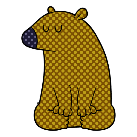 cartoon bear illustration design