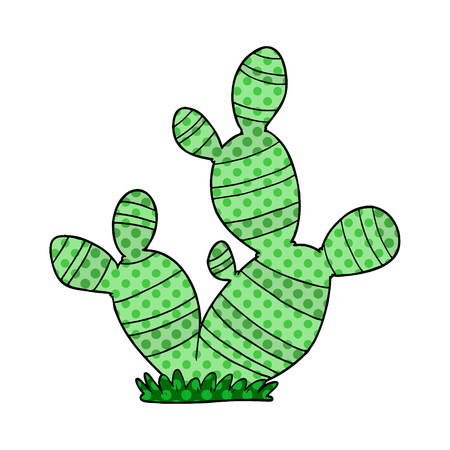 cartoon cactus illustration design  イラスト・ベクター素材