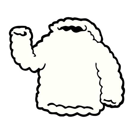 Sweat à capuche en molleton de dessin animé Banque d'images - 95638612