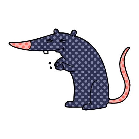 cartoon sneaky rat Stock Vector - 95638654
