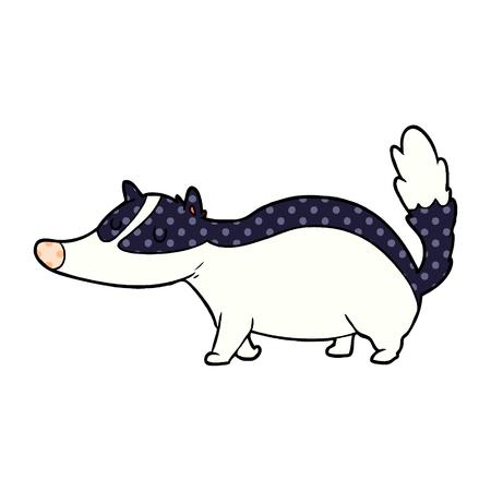 cartoon badger illustration design