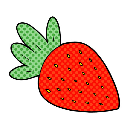 cartoon strawberry illustration design Stock Illustratie