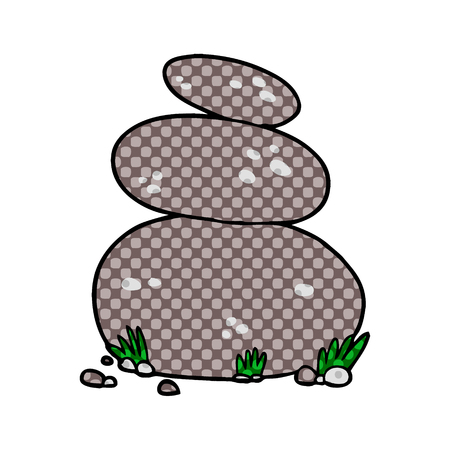 Cartoon große gestapelte Steine Standard-Bild - 95638694