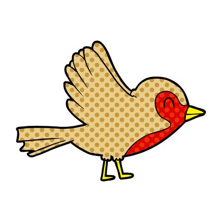 Cartoon robin vlucht nemen Stockfoto - 95638764
