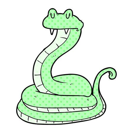 cartoon snake illustration design