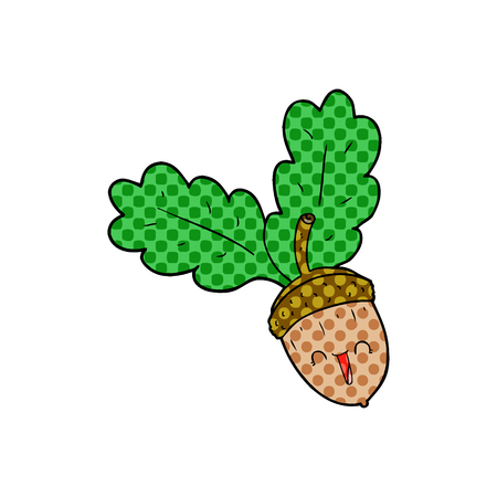cartoon acorn illustration design Banco de Imagens - 95638942