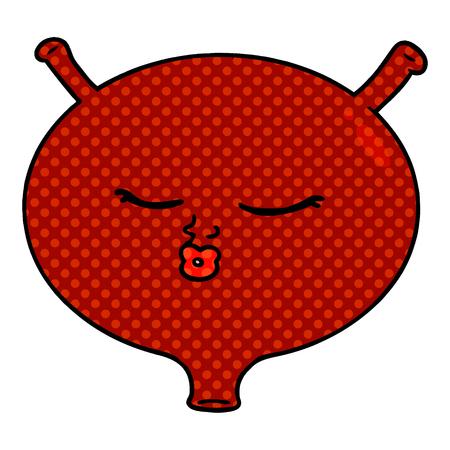cartoon bladder illustration design